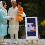 family face 3d miniature