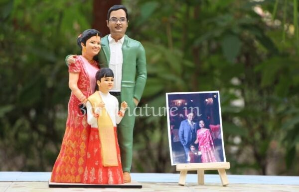 3d miniature doll for family