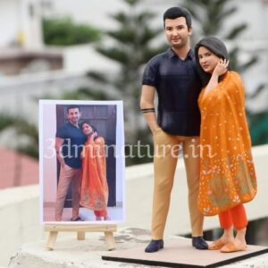 Personalized Couple 3D Miniature - 12 inches